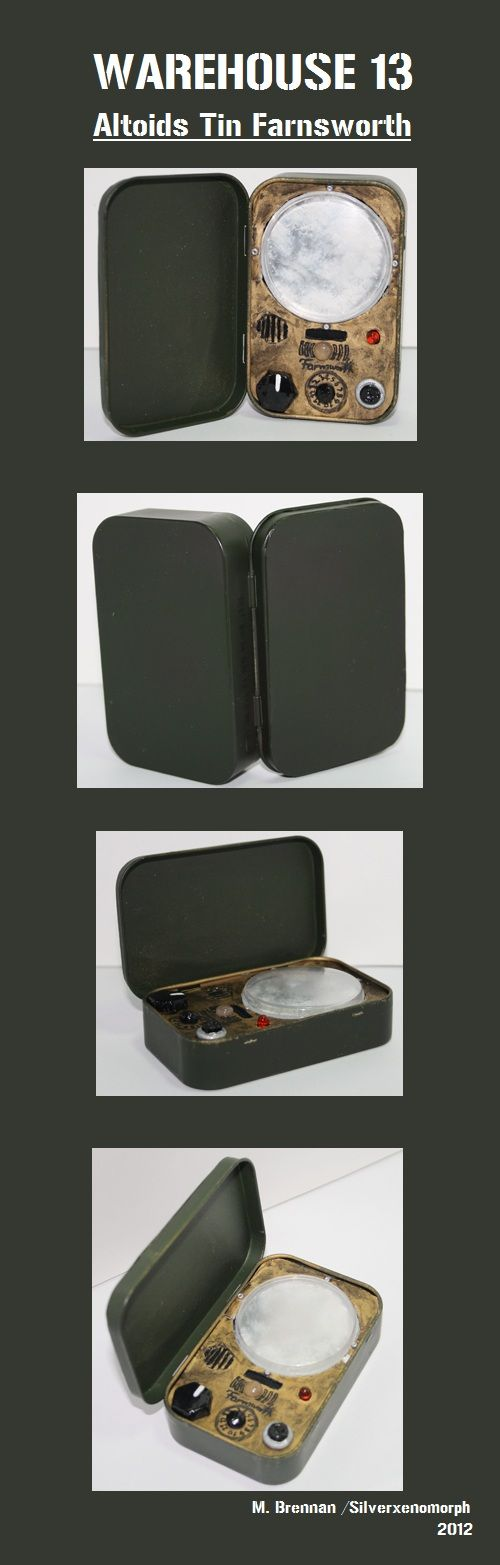 Altoids Tin Farnsworth - Warehouse 13 by ~SilverXenomorph on deviantART. I want to try this...