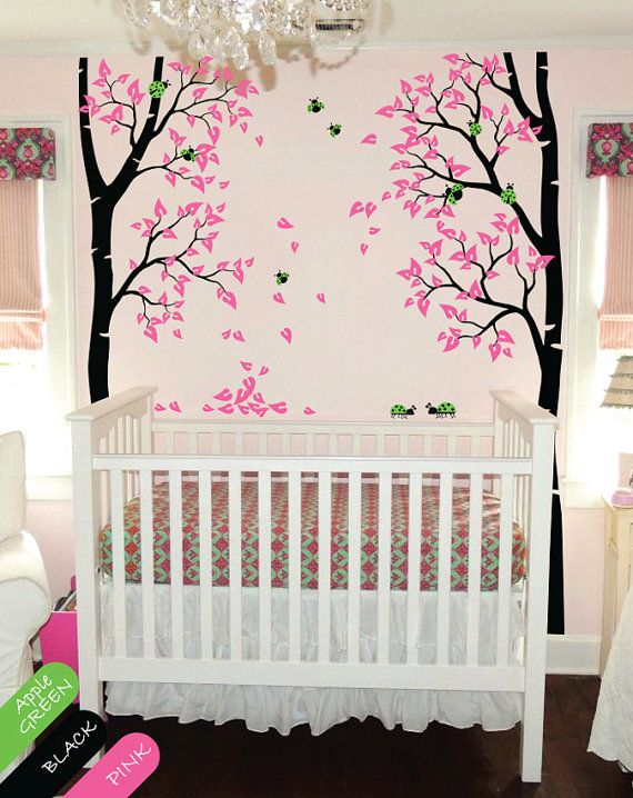 Nursery Tree Wall Decal Ladybug Wall Mural By HappyPlaceDecals, $79.00