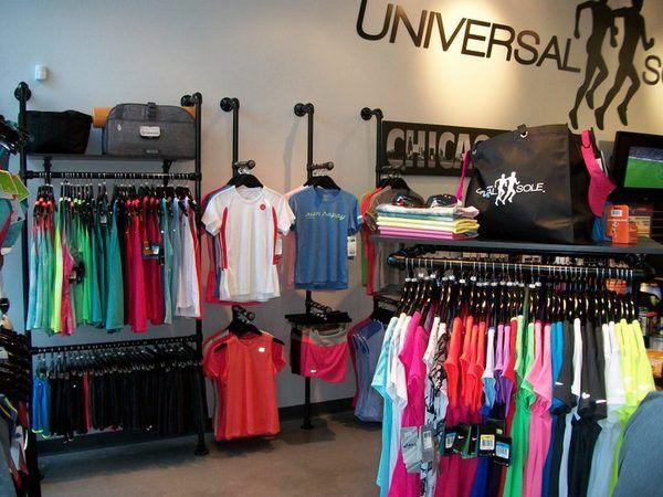 Retail Clothing Racks at Universal Sole