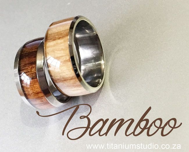 Bamboo Inlay Titanium Wedding Rings Titanium Ring With Imported Bamboo And Protective Resin Inlay Titanium Wedding Rings Black Titanium Ring Wedding Rings