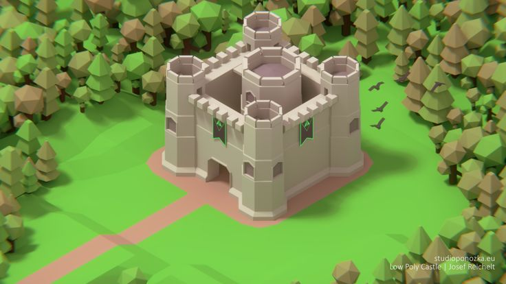 Simple Castle [Blender]