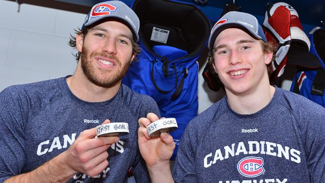 First goal as a Hab for Brandon Prust and first goal in the NHL for Brendan Gallagher - Jan. 27, 2013 vs. New Jersey Devils
