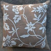 Burlap Floral Vine 20x20 Pillow [#2081] -  : Goemdee