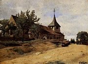 """New artwork for sale! - """" Corot The Church At Lormes by Jean Baptiste Camille Corot """" - http://ift.tt/2qx77BL"""
