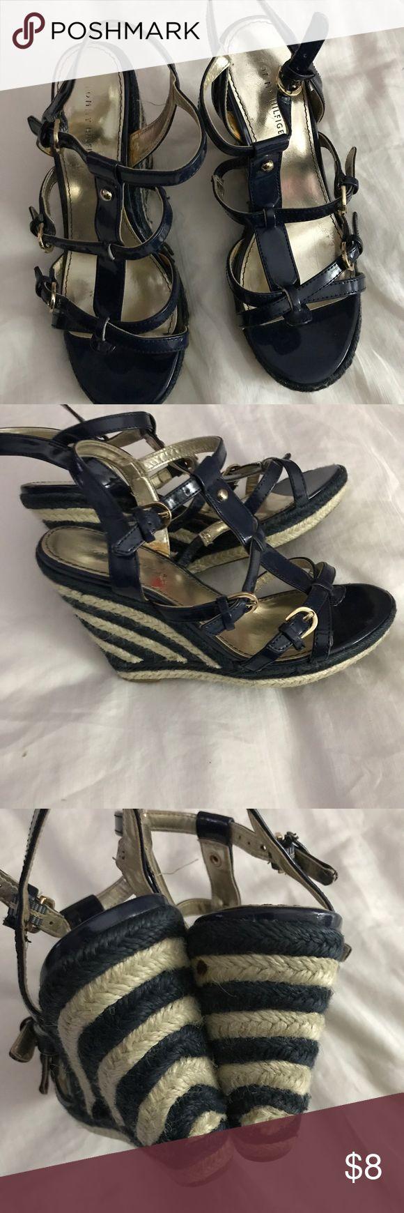 Tommy Hilfiger Espadrille Sandals Cute navy and jute  sandals Tommy Hilfiger Shoes Sandals