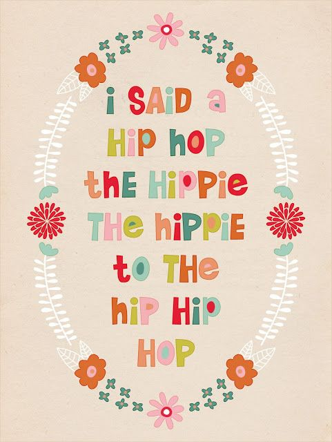"so cute! ""I said a hip hop"" Easter Printable"