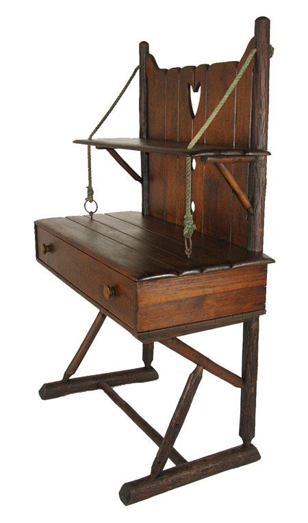 rare old hickory desk - Old Hickory Furniture