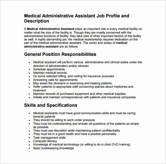 Patient Care Assistant Job Description Resume Luxury Medical Assistant Job Descriptio In 2020 Medical Assistant