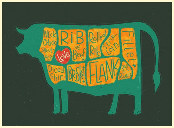 Cows are Really Meaty - collection on Behance
