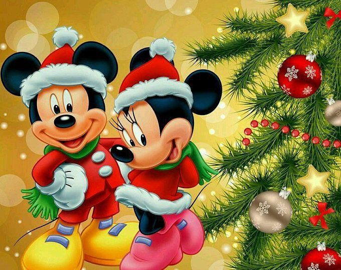 The Scheme Of Disney Cross Stitch New Year Pattern For Etsy In 2020 Disney Christmas Mickey Mouse Christmas Disney Holiday