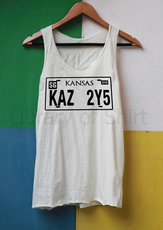 Supernatural License Plate Shirt Supernatural Shirts Tank Top TShirt Top Softly Women – size S M L on Etsy, $14.99