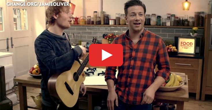 Jamie Oliver and Ed Sheeran Rap About Nutrition—and It's Amazing