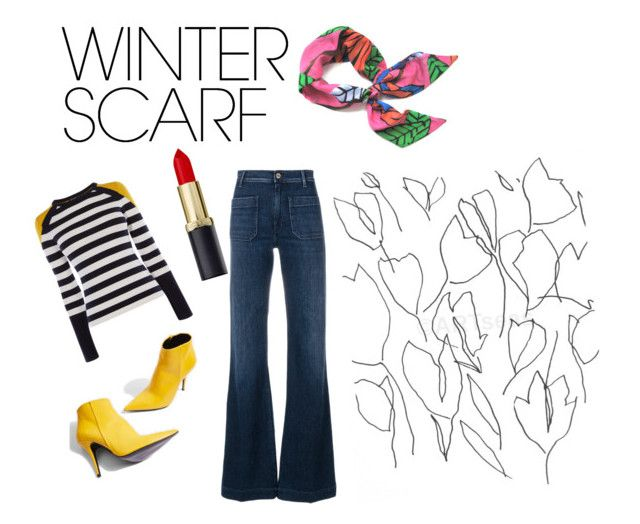 """winter scarf"" by ziasmin on Polyvore featuring Karen Millen, The Seafarer, Topshop, Blume and winterscarf"