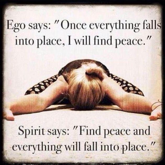 Motivation Monday: Ego + Spirit Finding Peace