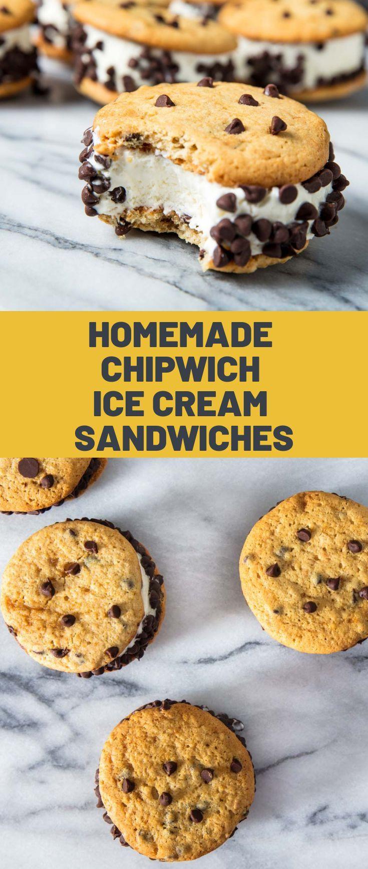 So machen Sie hausgemachte Chipwich Ice Cream Sandwiches – Sweet Tooth – #Chip …   – Interessante Eiscreme Liebe