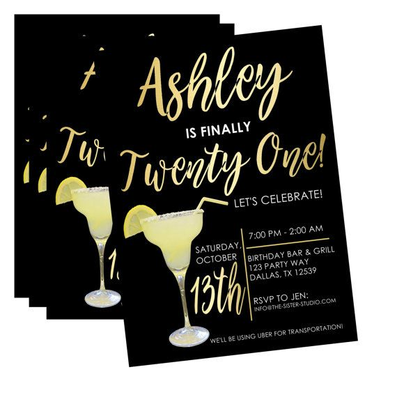 Twenty First Birthday Invitation, Twenty First Birthday, 21st Birthday Invite, Twenty First Birthday Party, 21st Birthday Party, Invitation