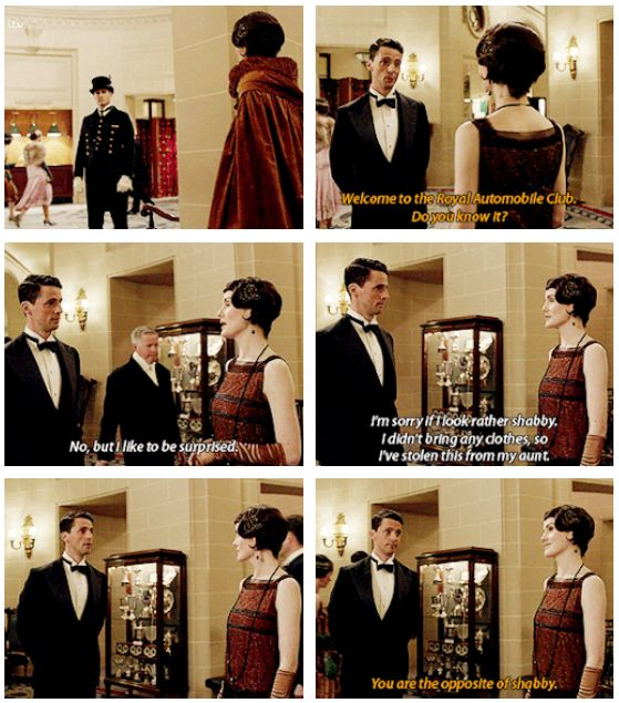 """♢mary crawley ♢michelle dockery ♢henry talbot ♢matthew goode ♢downton abbey ♢s6 ♢spoilers ♢604 .. """"You are the opposite of shabby."""" .."""