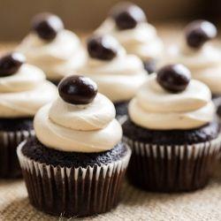 Hickory smoked cupcakes with creamy, intense Sumatra coffee buttercream