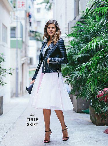 DIY tulle skirt www.apairandasparediy.com by apairandaspare, via Flickr