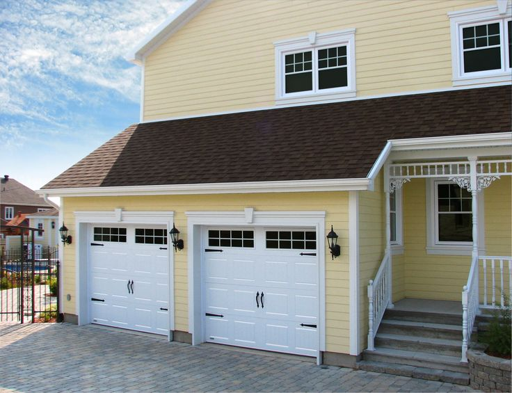 Portes de garage garex mod le new hampshire couleur for Porte 5 carreaux