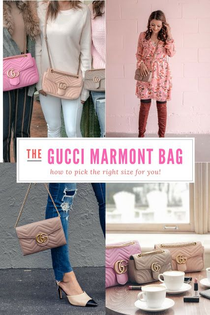 2c262836add Comparing the Different Sizes of the Gucci GG Marmont Matelasse Shoulder Bag
