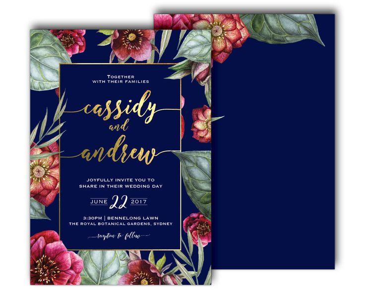 'AZURE' WEDDING INVITATION