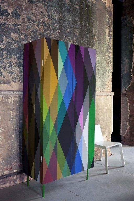 Cole and Son: Geometric Circus wallpaper   closet
