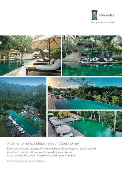 Our pool campaign 2014 for komaneka resorts ubud - bali indonesia