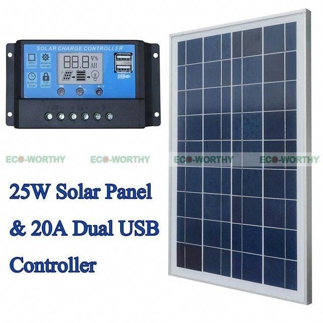 Solar Kits 25w 12v Polycrystalline Solar Panel With 20a Pwm Solar Charge Controller Ruglator For Solar Home Use Pv In 2020 Solar Kit Solar Energy Panels Solar Heating