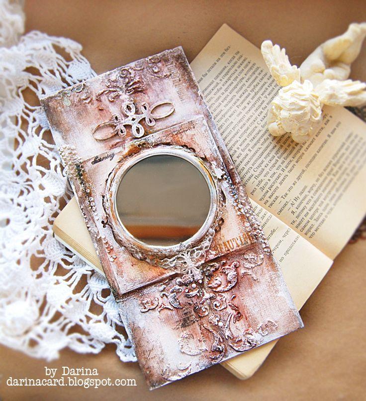 "Фото мастер-класс ""Зеркало в винтажной оправе"" | CuteCut #скрапбукинг #скрап #мк #мастеркласс #handmade #ручнаяработа #творчество"