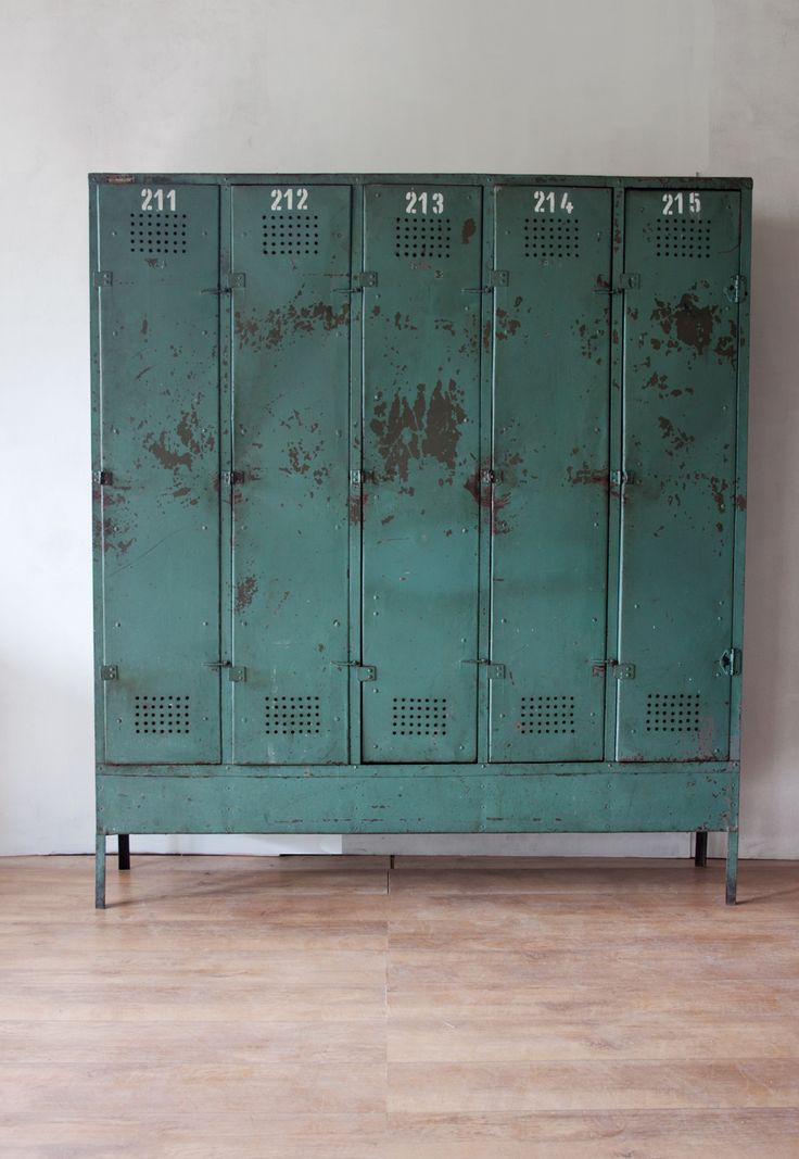 Good Old Industrial Cabinet Locker Idea