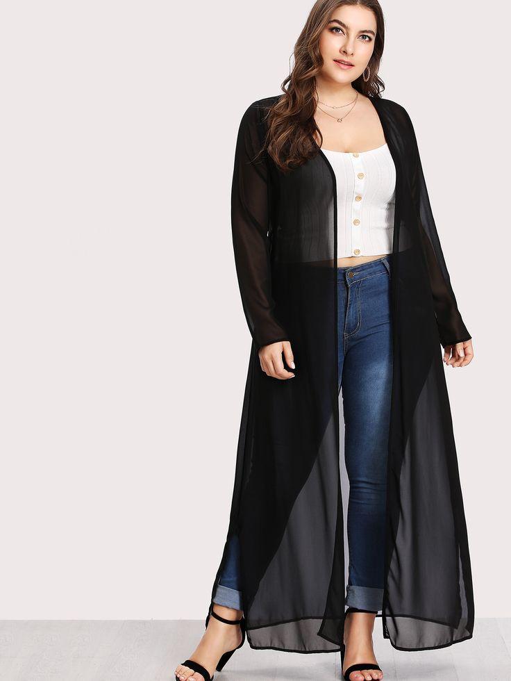 Shop Slip Side Longline Sheer Kimono online. SheIn offers Slip Side Longline Sheer Kimono & more to fit your fashionable needs.