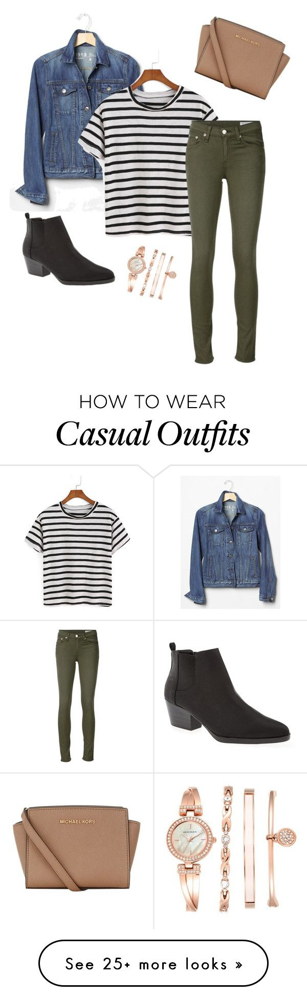 """Casual"" by isabelle-diga on Polyvore featuring Gap, rag & bone/JEAN, Old Navy, MICHAEL Michael Kors and Anne Klein"