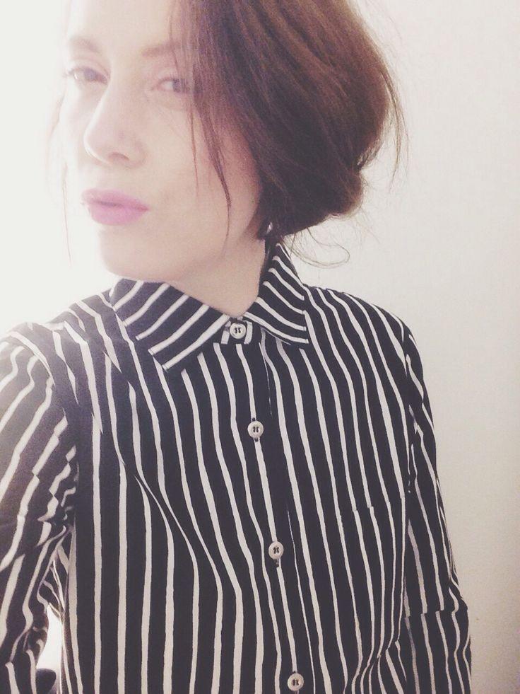 Marimekko Striped Shirt Lilac lips