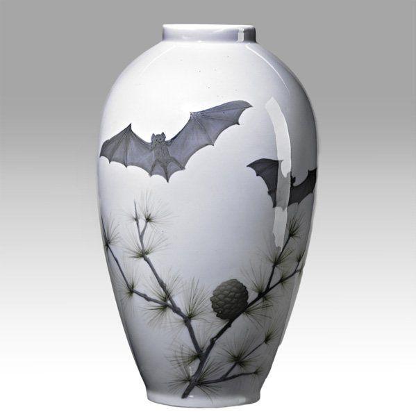 Royal Copenhagen Bats VaseRoyal Copenhagen, Porcelain Vases, Bats Four, Bats Vases, Bats Rel Items, Copenhagen Bats, Ceramic Bats, Copenhagen Porcelain