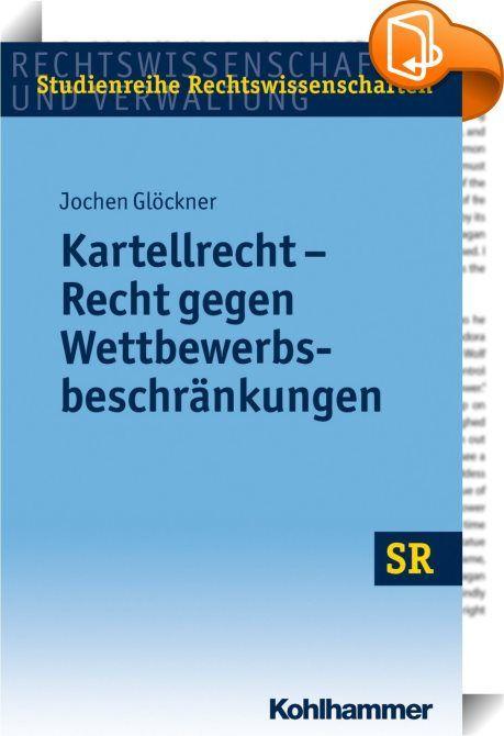 Kartellrecht - Recht gegen Wettbewerbsbeschränkungen    ::  Das Werk behandelt schwerpunktmäßig die Grundlagen und Strukturen des Europäischen und deutschen Kartellrechts.  Die Grundtatbestände des Kartellrechts sind anhand der jüngeren Praxis der Gerichte und Kartellbehörden erläutert. Die Anwendung des Kartellrechts im Verhältnis zu dem durch Immaterialgüterrechte gewährten Schutz sowie im Verhältnis zu der sektorspezifischen Regulierung auf durch Netzwerkstrukturen geprägten Märkten...