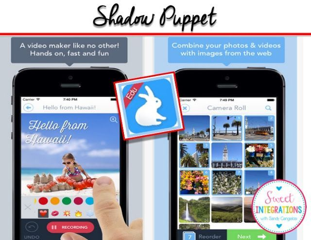 Shadow Puppet App - Click through to learn how to use this app and get a FREE download as well!