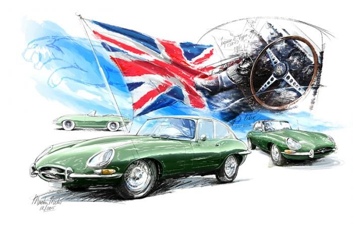 Jaguar e-Type - 1961 | Classiccar-art