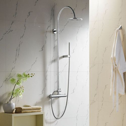 Thermostatic Exposed Bathroom Mixer Shower Chrome Round Valve Tap SS015 DD   eBay £100