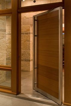 solid pivot door with sidelite - Google Search