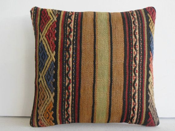 cheap decorative pillow Handwoven Kilim Pillow Throw Pillow kilim cushion kilim rug pillow cover decorative throw pillow turkish cushion