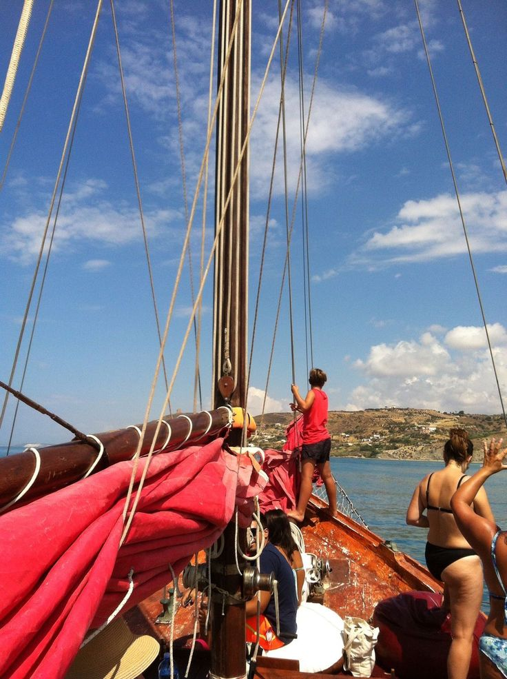 DAY 7 - a day at sea with Crew Lopez's goletta ! Wonderful way to enjoy the crystal blue sea and the coastline!  www.crewlopez.com