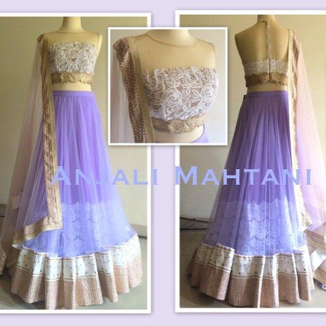 Anjali Mahtani #purple #engagement lengha