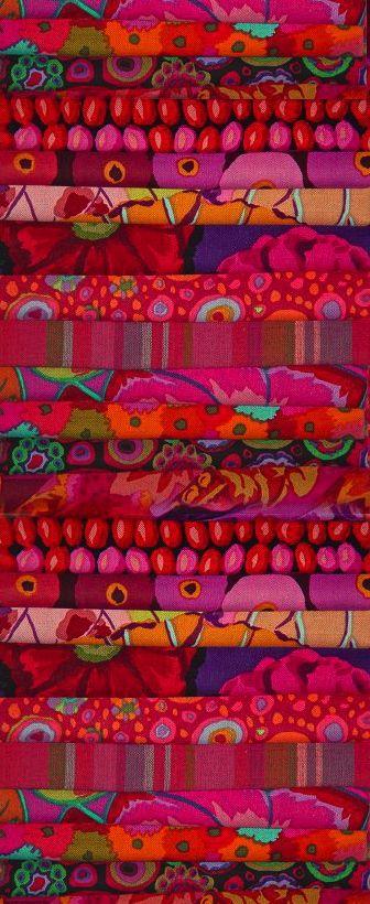 Kaffe Fassett (American, living in London, b. 1937). Artist working in quilting, knitting, fabric design, mosaic, and more. http://www.kaffefassett.com/Home.html