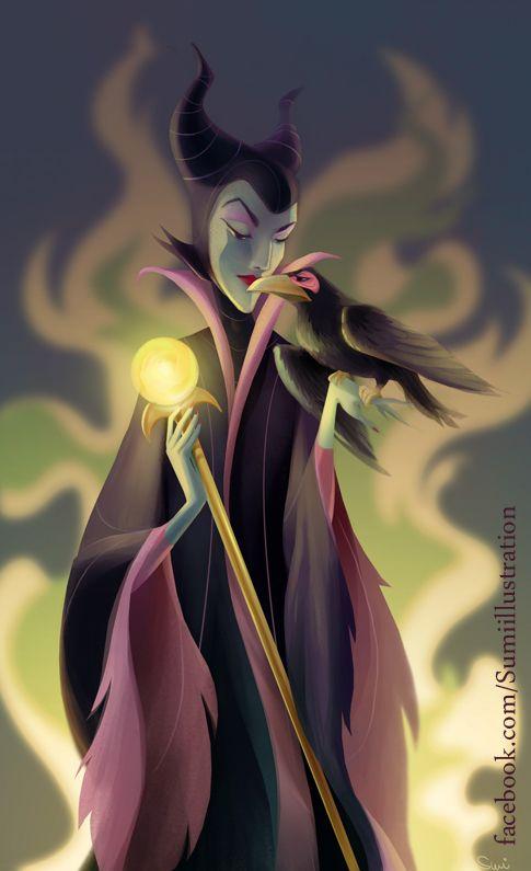 Disney - Maleficent and Diablo by ~Blumina on deviantART