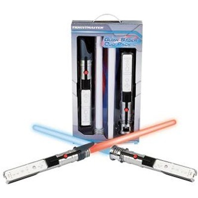 Sabres de luz para Nintendo Wii, 01 azul   01 vermelho (Glow Sabre Duo Pack). Thrustmaster R$99.90