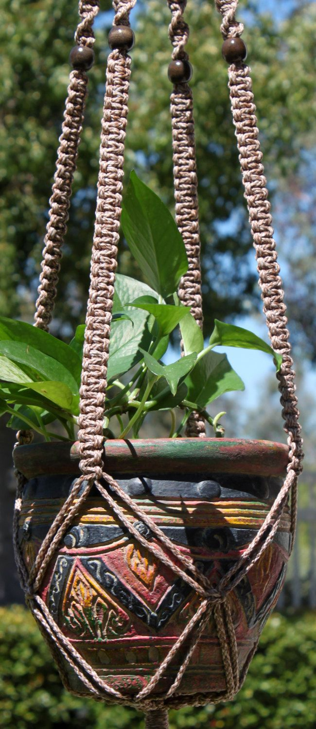 Good CLASSIC #Handmade #Macrame Plant Hanger In POTTERY By #ChironCreations Via  @Etsy Http