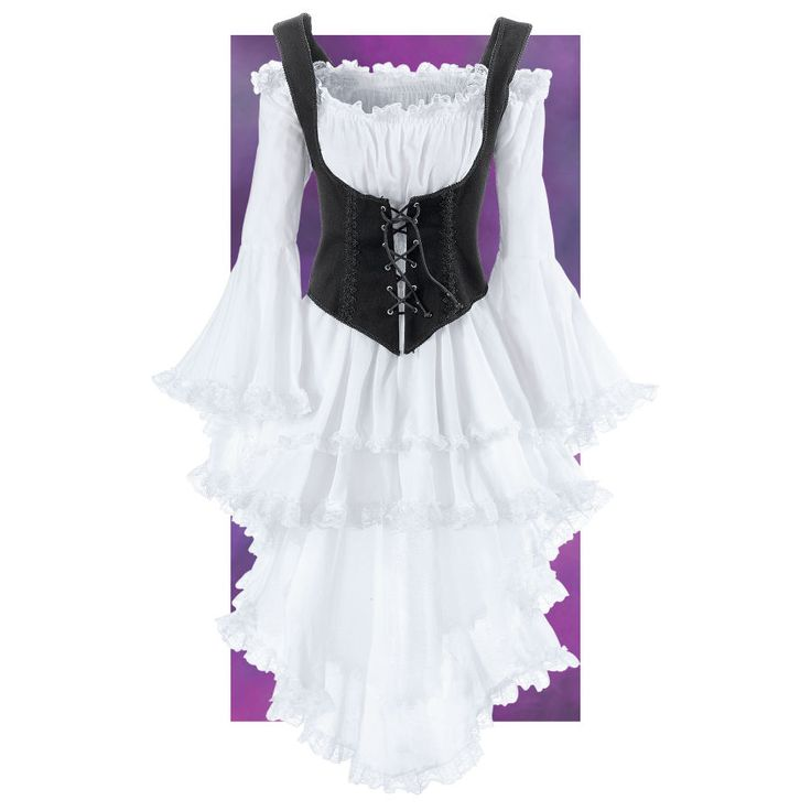 White Pirate Queen Dress - Women's Clothing & Symbolic Jewelry – Sexy, Fantasy, Romantic Fashions