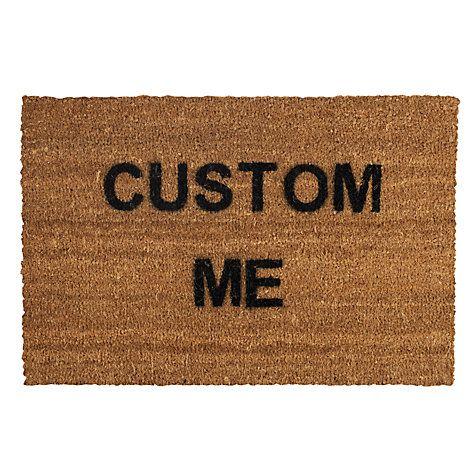 Buy John Lewis Personalised Custom Coir Doormat, Natural, L75 x W50cm Online at johnlewis.com