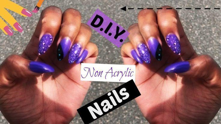 Diy cornstarch fake nails no acrylic living with shea